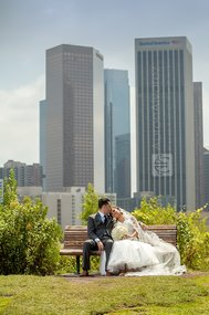 Newly wed couple in Los Angeles