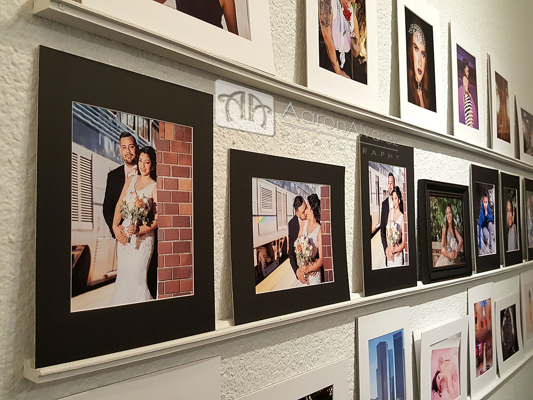 Reveal Wall with 8x10 Prints matted on 11x14 Boards